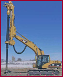 Hammer & Steel Geodrill excavator mounted drilling attachment