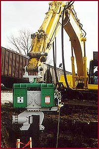 Excavator Mounted Vibratory Pile Driver