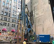 ABI Mobilram TM 18/22 HD installing micropile in NYC - Hammer & Steel