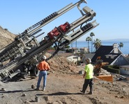 MC 22 A installing anchors in Malibu, CA