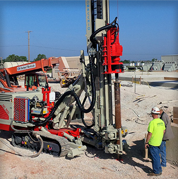 Hammer & Steel | Tieback (Micropile) Drill Rigs and Drilling